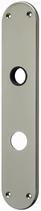 Langschild Mega 35.455, matt vernickelt, abgerundet, Grösse 254x50 mm, Führung 18 mm