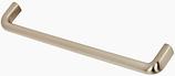 Möbelgriff, Serie 2207, Zamak gebürstet vernickelt