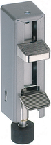 Türfeststeller Aluminium, Teleskop-Modell, Hub 35 mm
