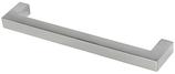 Möbelgriff Profil 10x10 mm, Serie 2212, Zink edelstahlfinish