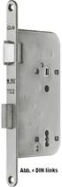 Einsteckschloss GLUTZ 1102, Rundstulp 18x230 mm, Dornmass 60 mm, Nuss 8 mm