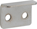 Anschlagwinkel 19x14 mm, für Möbelschlösser, vernickelt