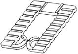 Distanzplättchen Dicke 1 mm