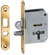 Möbel-Einsteckschloss für Schiebetüren und Rolläden, inkl. 2 Zuhaltungsschlüssel