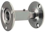 Handlaufstütze verzinkt, gerade, mit zwei Anschraubplatten ø 60 mm, Wandabstand verstellbar