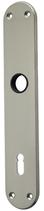 Langschild Mega 35.450, matt vernickelt, abgerundet, Grösse 220x40 mm, Führung 16 mm
