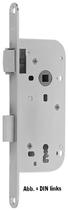 Einsteckschloss GLUTZ 1004, Rundstulp 18x230 mm, Nuss 8 mm