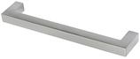 Möbelgriff Profil 12x12 mm, Serie 2213, Zink edelstahlfinish
