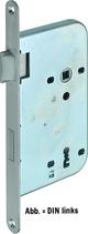 Einsteckschloss GLUTZ 1106, Rundstulp 18x230 mm, Nuss 8 mm