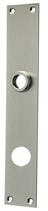 Langschild Mega 35.046, matt vernickelt, eckig, Grösse 230x40 mm, Führung 18 mm