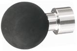 Möbelknopf Edelstahl, mit schwarzer Gummikugel