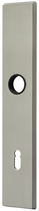 Langschild Mega 35.462, matt vernickelt, eckig, Grösse 234x42 mm, Führung 16 mm