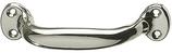 Möbelgriff, Serie 1893, Stahl vernickelt, hohlgeprägt