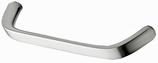 Möbelgriff, Serie 2204, Zink edelstahlfinish, Lochabstand 160 mm