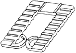 Distanzplättchen Dicke 8 mm