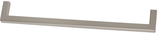 Möbelgriff Profil 8,5x8,5 mm, Serie 2205, Zamak gebürstet vernickelt
