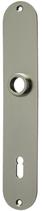 Langschild Mega 35.045, matt vernickelt, abgerundet, Grösse 217x40 mm, Führung 16 mm