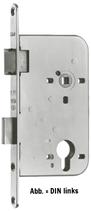 Einsteckschloss GLUTZ 1106, Rundstulp 18x230 mm, Nuss 9 mm