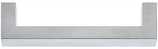 Möbelgriff Profil 14x14 mm, Serie 2214, Edelstahl matt