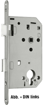 Einsteckschloss GLUTZ 1001, Rundstulp 18x230 mm, Dornmass 60 mm, Nuss 8 mm