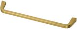 Möbelgriff, Serie 2208, Zamak gebürstet goldfarbig, Lochabstand 160 mm