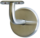 Handlaufstütze Edelstahl, 90° abgebogen, mit flacher Anschraubplatte, unsichtbare Verschraubung mit selbstklemmender Abdeckrosette