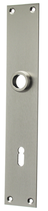 Langschild Mega 35.046, matt vernickelt, eckig, Grösse 230x40 mm, Führung 16 mm