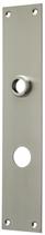 Langschild Mega 35.047, matt vernickelt, eckig, Grösse 250x50 mm, Führung 18 mm
