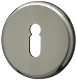 Clip-Schlüsselrosette Mega, matt vernickelt