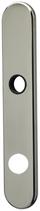 Langschild Mega 35.452, matt vernickelt, abgerundet, Grösse 224x40 mm, Führung 18 mm