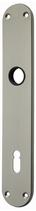 Langschild Mega 35.445, matt vernickelt, abgerundet, Grösse 204x35 mm, Führung 16 mm