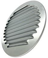 Lüftungsgitter rund, Aluminium, mit Fliegengitter
