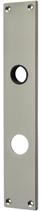 Langschild Mega 35.460, matt vernickelt, eckig, Grösse 234x42 mm, Führung 18 mm