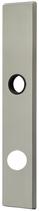 Langschild Mega 35.462, matt vernickelt, eckig, Grösse 234x42 mm, Führung 18 mm