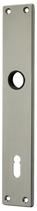 Langschild Mega 35.440, matt vernickelt, eckig, Grösse 200x35 mm, Führung 16 mm