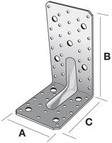 Winkelverbinder mit Verstärkungsrippe