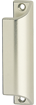 Möbel-/Ziehgriff, Serie 1902, Aluminium neusilberfarbig eloxiert, Länge 90 mm