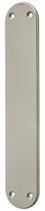 Blindschild Mega 35.450, matt vernickelt, abgerundet, Grösse 220x40 mm