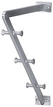 Huttablarstütze, Serie 2203, Ausführung mit Tablarkonsole, Aluminium farblos eloxiert