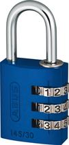 Vorhänge-Zahlenschloss ABUS Typ 145, blau, Breite 31,5 mm