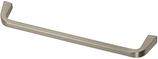 Möbelgriff, Serie 2208, Zamak gebürstet vernickelt, Lochabstand 160 mm
