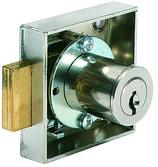 Möbel-Riegelschloss KABA 1074, zum Aufschrauben, ohne Stulp, mit Zylinder und 2 Schlüssel KABA-8