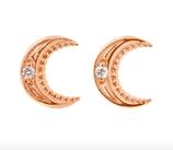 Boucles d'oreilles Lune Diamants