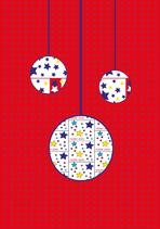 Weihnachtskarte Kugeln