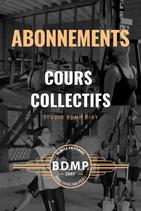 ABONNEMENT 12 MOIS Cours Collectifs - Premier mois