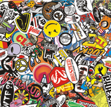 Sticker Bombing - Folie 65cm x 62cm