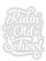 "Sticker ""Ridin´ Oldschool - Vinylcut"""