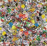 Sticker Bombing - Folie 130cm x 125cm