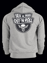 "Zip-Hoody ""Sex, Drugs, Ost´n´Roll"""