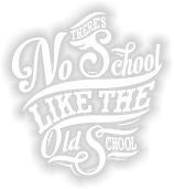 "Sticker ""There´s no School like the Oldschool - Vinylcut"""
